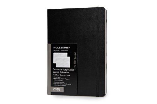 Moleskine 2015 Taskmaster Weekly Planner, Vertical, 12M, Extra Large, Black, Hard Cover (19 x 25) (Moleskine Diaries)