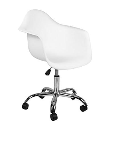 Superstudio bureaustoel Set van 2 witte Print