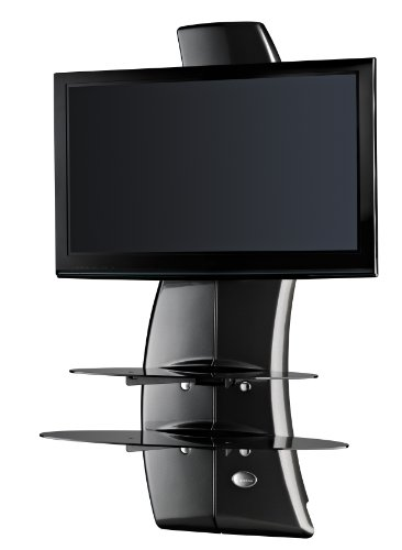 Meliconi Ghost Design 2000 Tv Stand - Coal Black