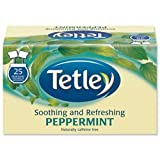 Brand New. Tetley Peppermint Tea Bags Finest European-sourced Individually-wrapped Ref A06676 [Pack 25]