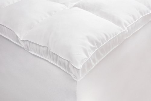Sale!! Rio Home Fashions Microfiber Baffled Box Full Fiberbed with Bed Skirt, White