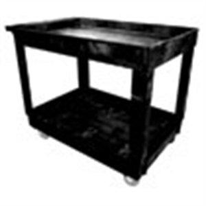 Rubbermaid Commercial Service/Utility Cart, 2-Shelf, 24w x 40d x 31-1/4h, Black