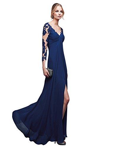 EnjoyBridal® Women's Sexy V-neck Lace Long Sleeve Pregnant Evening Dress US8