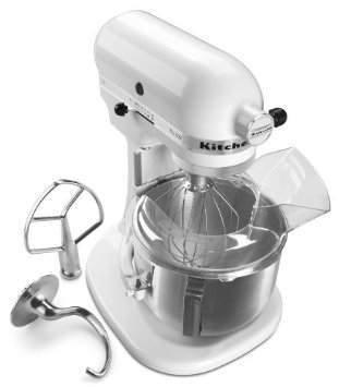 NEW White KitchenAid Pro 500 Series 5-Quart Stand Mixer Lift Metal Get Rabate
