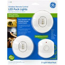 UTILITY LIGHT LED BATTERY OPERATED TOUCH LIGHT 3 LIGHT PUCK LIGHT W/REMOTE