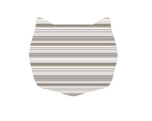 Cats rule small space mat neutral stripe animals pet supplies pet supplies supplies litter box mats - Litter boxes for small spaces paint ...