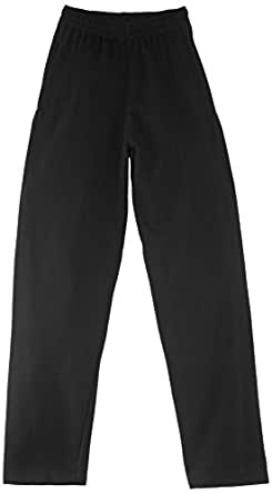 Fruit of the Loom Men's Open Hem Jog Relaxed Sports Trousers, Black, Small