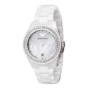 Armani Ceramica Quartz Mother of Pearl Dial Women's Watch - AR1426