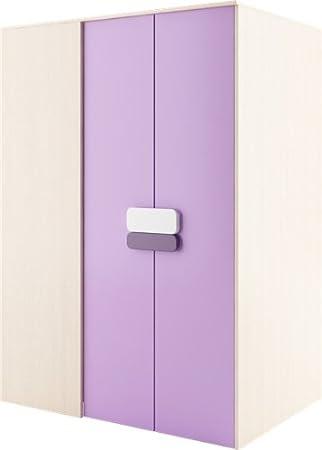 Vestidor Gusto 130 cm G00Rechts entrar masturbador con armario albornoz color roble crema/violeta