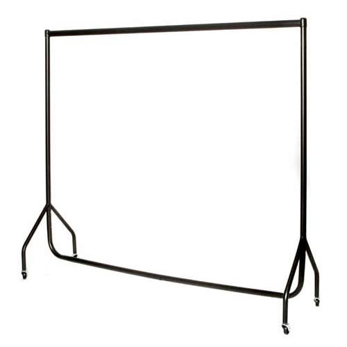 2 x 6ft Robust Black Clothes Rails with stronger than the normal rail frame.