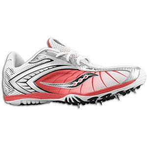 Saucony Men's Shay XC2 20082 Cross-Country Shoe,White/Red/Silver,10 M US