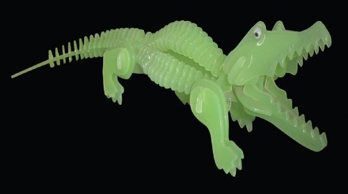 Alligator 3D Jigsaw Glow In The Dark Construction Kit
