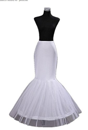 Dqfs Bridal Mermaid Adjustable Crinoline Petticoat/slips/underskirt