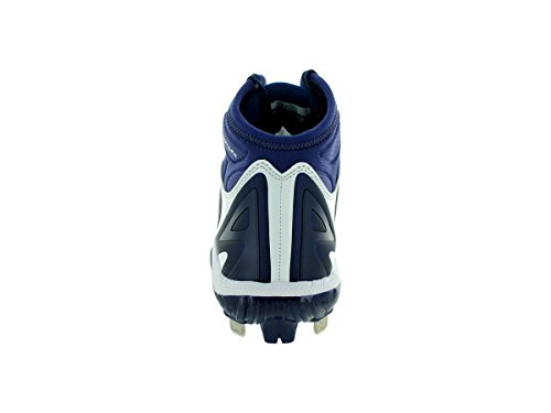pictures of Under Armour Men's Yard Mid St White/Midnight Navy Baseball Cleat 11 Men US