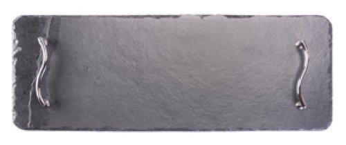 Platos individuales Slate 50 x 17 cm Rectangular Bandeja para servir/plato/tabla de cortar queso, negro