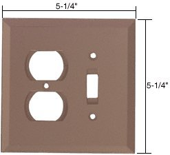 CRL Duplex and Toggle Combo Glass Mirror Plate - Bronze deal 2016