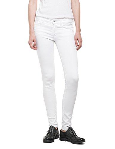 Replay Damen Skinny Jeanshose Luz, Gr. W29/L32 (Herstellergröße: 29), Weiß (WHITE 1) thumbnail