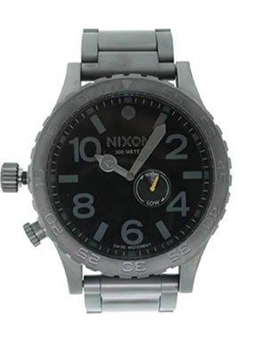 Nixon 51-30 Watch - Men's All Gunmetal/Black, One Size