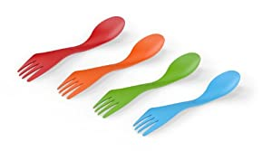 Light My Fire Original BPA-Free Tritan Spork (4-Pack), Assorted Color