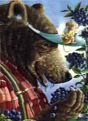 Great American Puzzle Factory Bear Berries by Maryjane Begin