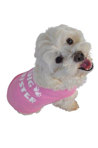 Doggie Tank Top, Big Sister, Pink, Small (Dog Big Sister Shirt compare prices)