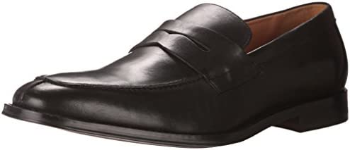Aldo Men's Thorweald Loafer with Keeper, Black Leather, 10 D US