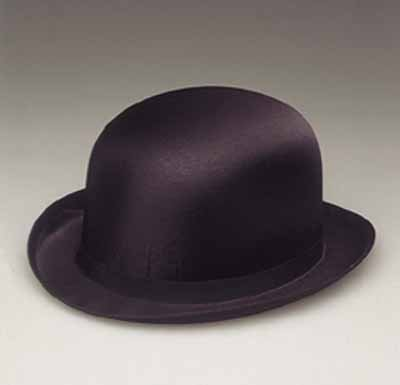 Permasilk Black Silk Derby Costume Hat 16921
