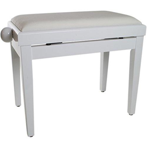 Tiger PST14-CR Klavierbank - Sitzhöhenverstellbar - für Klavier - Weiß