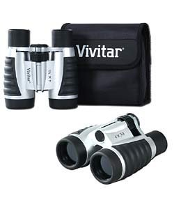 Vivitar 4 X 30 Compact Binoculars Set With Pouch & Strap