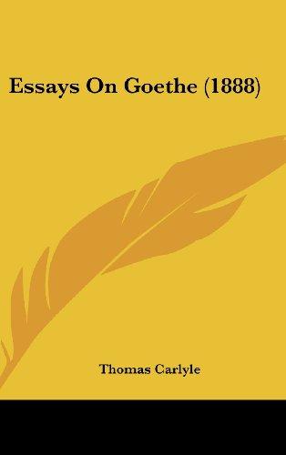 Essays on Goethe (1888)