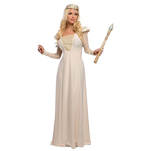 GSG Deluxe Glinda Costume Oz The Great and Powerful Wizard Halloween Fancy Dress (Plus Size Sexy Glinda Costume)