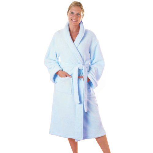 Beam Feature Bathrobe Ladies Blue, Small FREE DELIVERY
