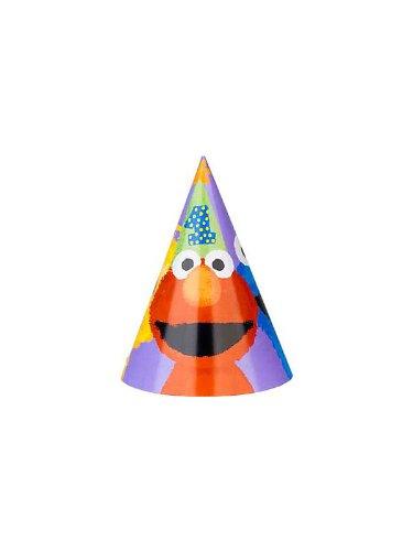 Amscan Unisex Adult Sesame Street 1st - Cone Hats Black Medium