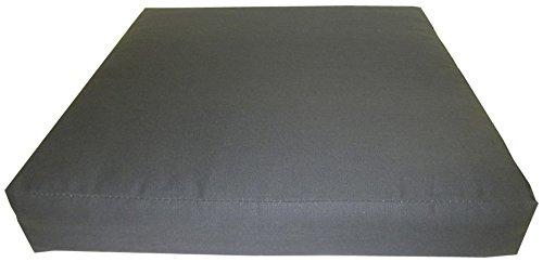 Gartenmöbel Rattan Premium Sitzkissen 80 x 80 cm in der Farbe anthrazit Loungekissen jetzt bestellen