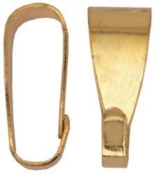 Beadalon Pendant Bails Medium 15 Piece Gold Plated (Pack of 3)