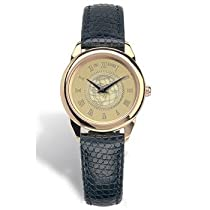 US Military Academy - Ladies 18K Gold 5M Watch Black