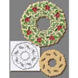 R & M International  5869 Holiday Wreath Stainless Steel Cookie Cutter, X-Large