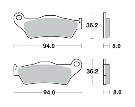 Pastiglie dei freni TRW MCB 648 per MOTO GUZZI 1200 Breva LP 08- (dietro)