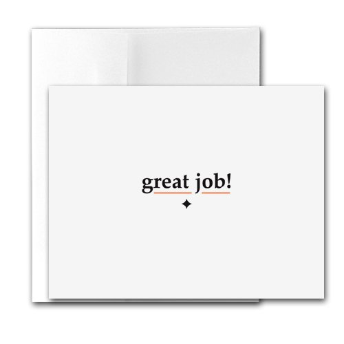 Buy Great Job! – Contemporary Printer-Compatible Note Cards, Box of 24 cards and envelopes