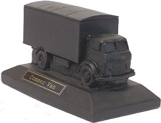 Commer Van Truck Model on Plinth - Hand Crafted - Coal model