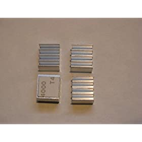 Xbox 360 RAM Heatsinks (4 pcs) for HANA ANA Southbridge RAM Chips - Upgrade Cooling Repair - Prevent RROD