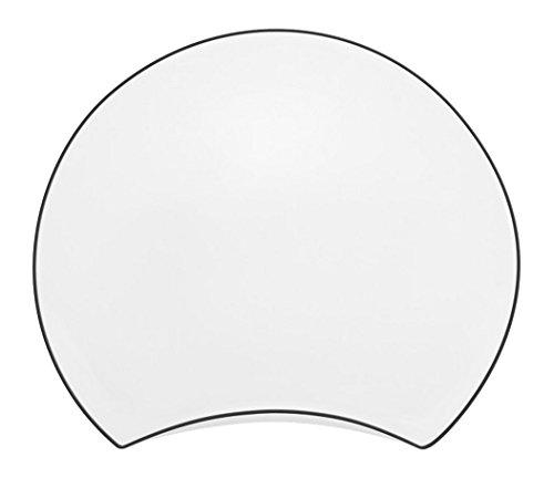 Guy Degrenne 206456 Moon Couture Lot de 6 Assiettes Porcelaine Gris/Anthracite 17 x 15,2 x 1,28 cm