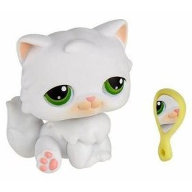 Buy Low Price Hasbro Littlest Pet Shop Single Pack Figure White Persian (B000IBATT8)