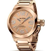 TW Steel Canteen 40mm Rose Dial Rose Gold-plated Unisex Watch TW303