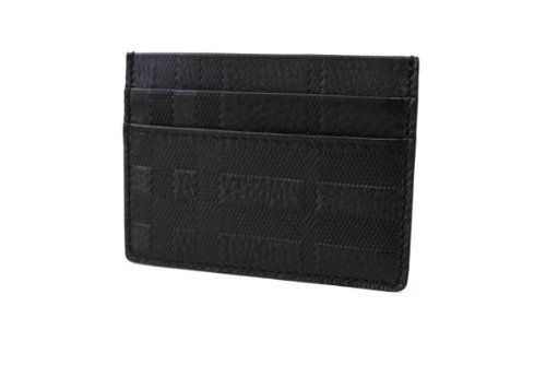 Burberry  Burberry London 'Sandon' Embossed Check Leather Card Case Wallet