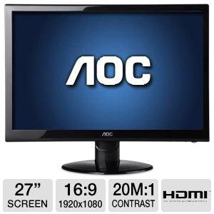 """Aoc 27"""" 1920X1080 Class Led Monitor"""