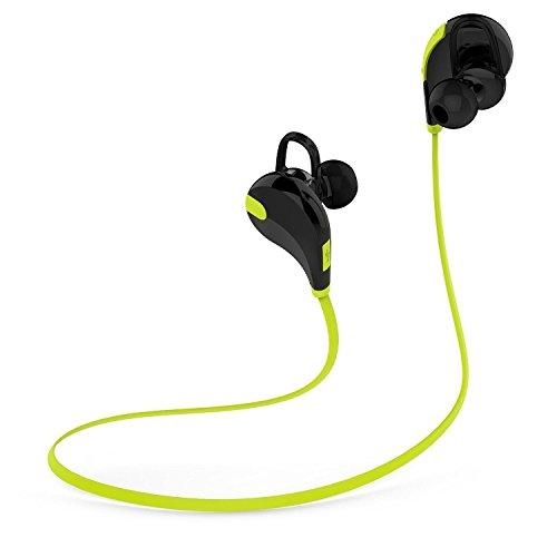 Soundpeats(サウンドピーツ) Bluetooth v4.1 スポーツヘッドセット スポーツイヤホン ランニングイヤホン 防水 QY7 iPhone iPad Android スマートフォン タブレット対応(Black/Green)[並行輸入品]