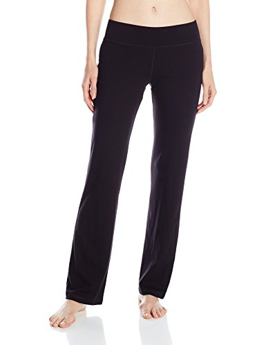 No Nonsense Women's Sport Yoga Pant, Black, Large (Yoga Womens Pants compare prices)