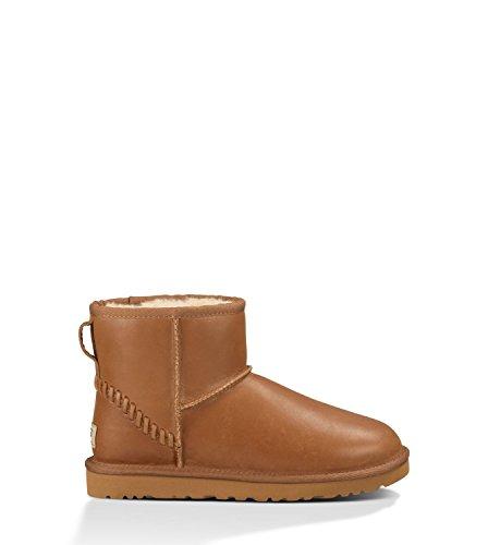UGG Australia Womens Classic Mini Deco Boot Chestnut Size 10
