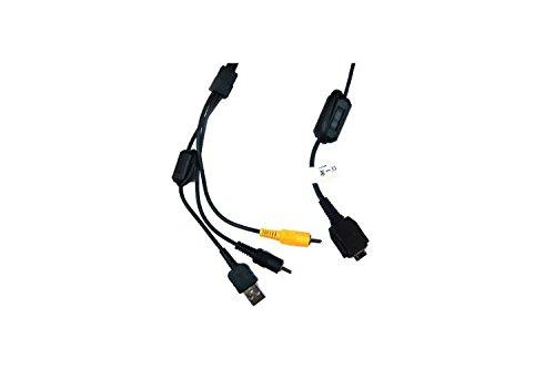 USB + AV Kabel, ersetzt Sony VMC-MD1, Kompatibel mit CyberShot DSC-: F88, G3, H3, H7, H9, H10, H50, N1, N2, P100, P100LJ, P120, P150, P150LJ, P200 und weitere (siehe Beschreibung)